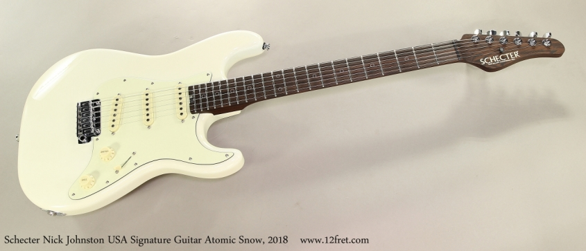 Schecter Nick Johnston USA Signature Guitar Atomic Snow, 2018 Full Front View