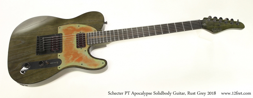Schecter PT Apocalypse Solidbody Guitar, Rust Grey 2018 Full Front View