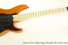 Schecter Sun Valley Super Shredder FR Lambo Orange, 2018  Full Front View