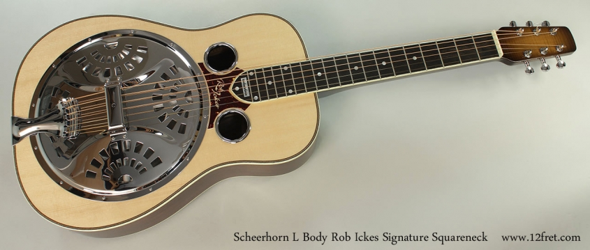 Scheerhorn L Body Rob Ickes Signature Squareneck Full Front View
