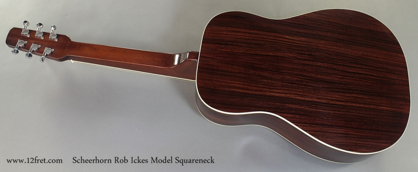 Scheerhorn Rob Ickes Model Squareneck Resophonic Guitar full rear view