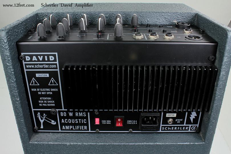 Schertler David Amplifiers back panel