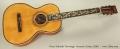 Oscar Schmidt 'Sovereign' Acoustic Guitar, 1930's Full Front View