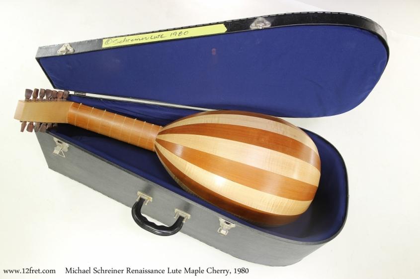 Michael Schreiner Renaissance Lute Maple Cherry, 1980    Full Rear View