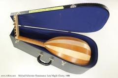 Michael Schreiner Renaissance Lute Maple Cherry, 1980    Full Rear Side View