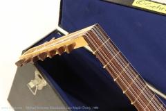 Michael Schreiner Renaissance Lute Maple Cherry, 1980    Head Side View