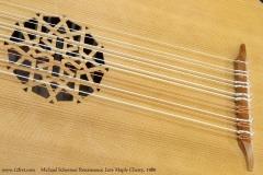 Michael Schreiner Renaissance Lute Maple Cherry, 1980    Rose and Bridge
