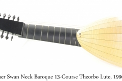 Schreiner Swan Neck Baroque 13-Course Theorbo Lute, 1996 Full Rear View
