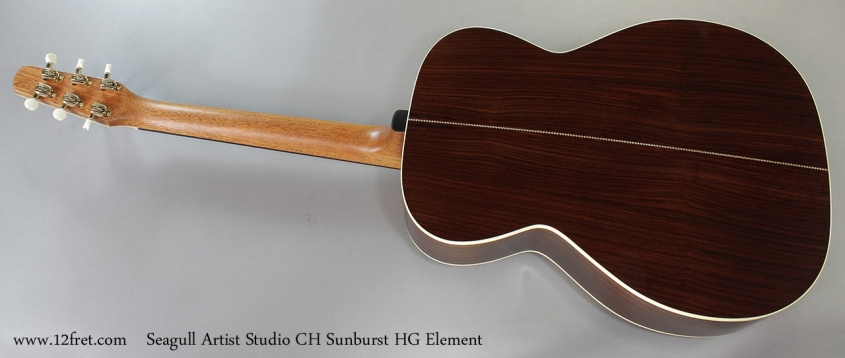 Seagull Artist Studio CH Sunburst HG Element Full Rear View