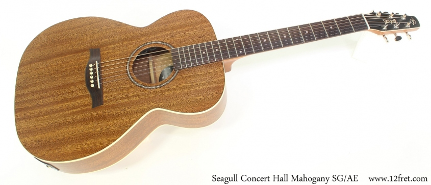 Seagull Concert Hall Mahogany SG/AE Full Front View