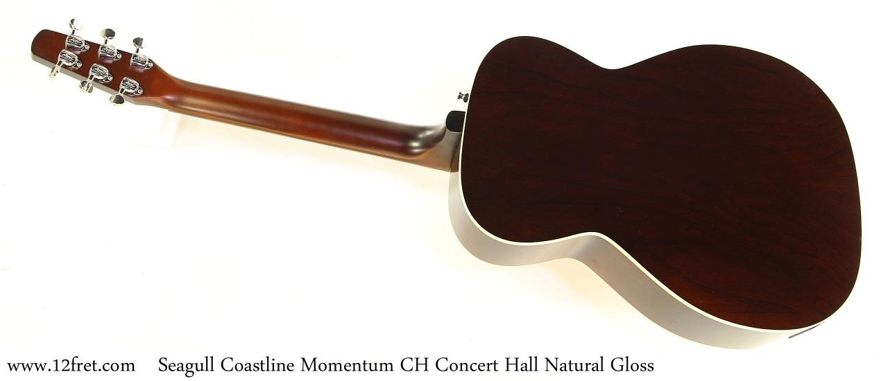 Seagull Coastline Momentum CH Concert Hall Natural Gloss Full Rear View