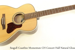 Seagull Coastline Momentum CH Concert Hall Natural Gloss Full Front View