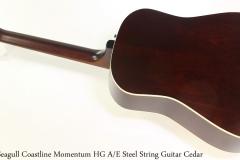 Seagull Coastline Momentum HG A/E Steel String Guitar Cedar Full Rear View