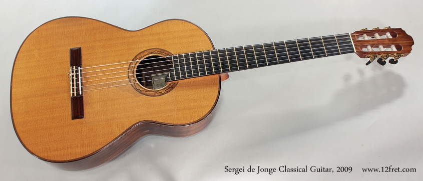 Sergei de Jonge Classical Guitar, 2009 Full Front View