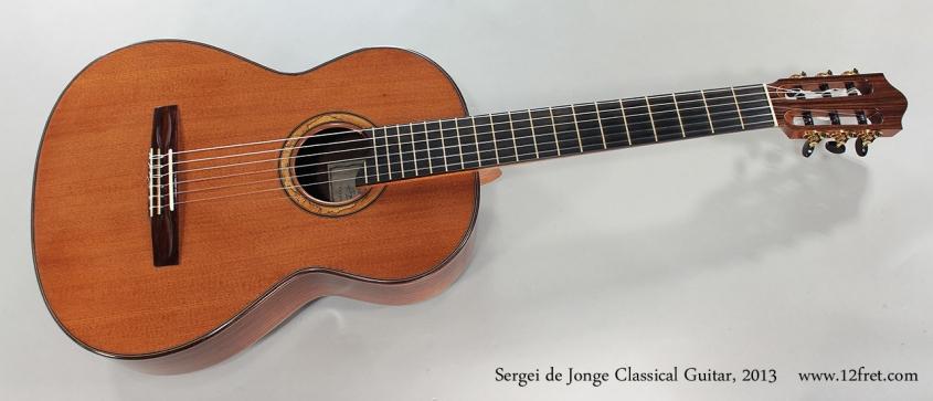 Sergei de Jonge Classical Guitar, 2013 Full Front View