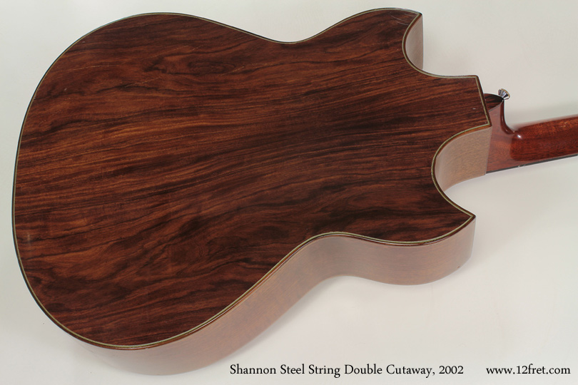 Shannon Double Cutaway Acoustic 2002 back