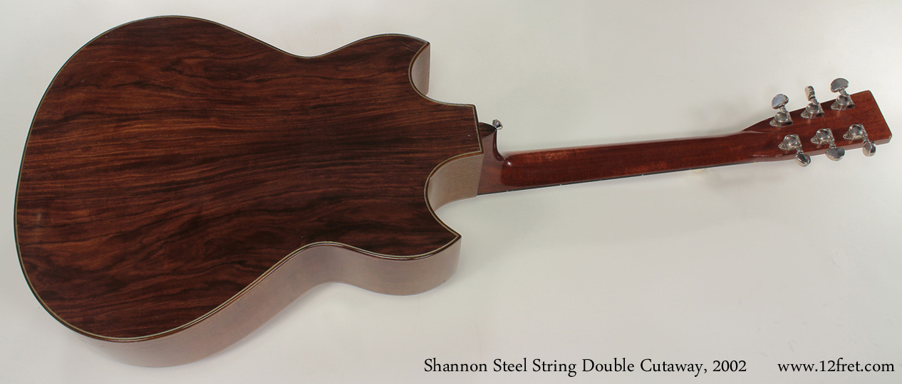 Shannon Double Cutaway Acoustic 2002 full rear view
