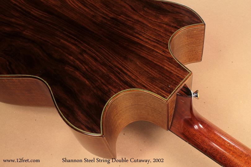 Shannon Double Cutaway Acoustic 2002 heel