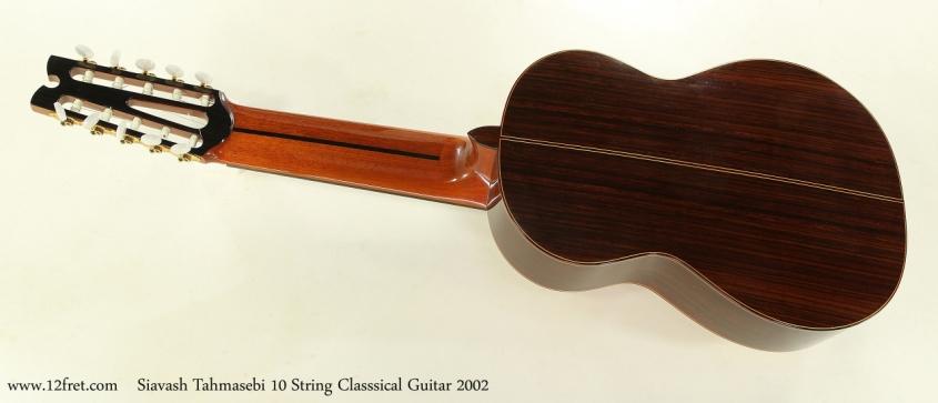 Siavash Tahmasebi 10 String Classsical Guitar 2002  Full Rear View