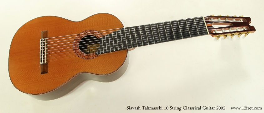 Siavash Tahmasebi 10 String Classsical Guitar 2002  Full Front View