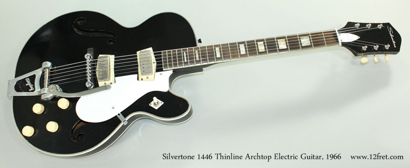 Silvertone 1446 Thinline Archtop Electric Guitar, 1966 Full Front View