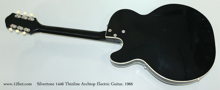 Silvertone 1446 Thinline Archtop Electric Guitar, 1966 Full Rear View