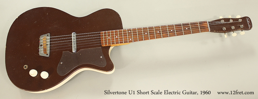 Silvertone U1 Short Scale Electric Guitar, 1960 Full Front View