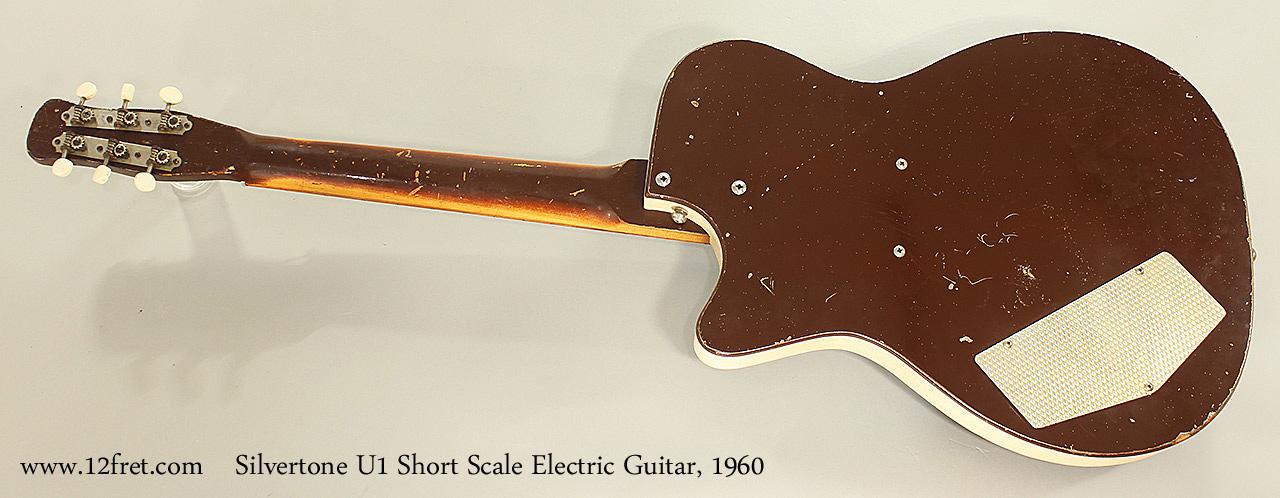 Silvertone U1 Short Scale Electric Guitar, 1960 Full Rear View