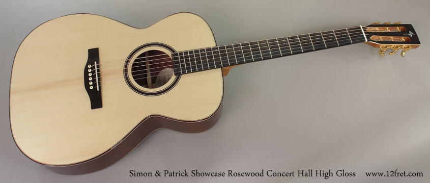 Simon & Patrick Showcase Rosewood Concert Hall High Gloss Full Front View