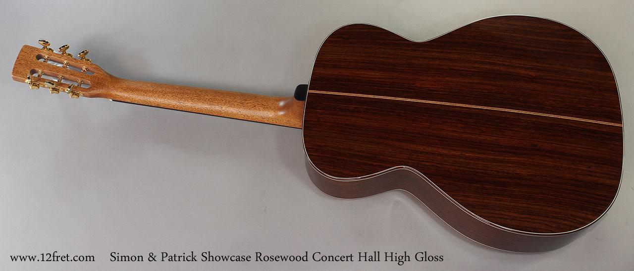 Simon & Patrick Showcase Rosewood Concert Hall High Gloss Full Rear View