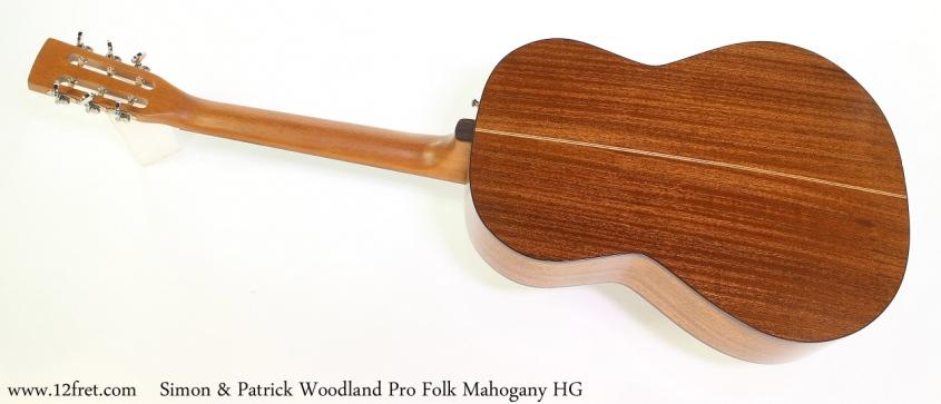 Simon & Patrick Woodland Pro Folk Mahogany HG Full Rear View