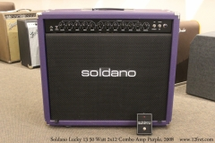 Soldano Lucky 13 50 Watt 2x12 Combo Amp Purple, 2008 Full Front View