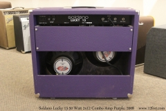 Soldano Lucky 13 50 Watt 2x12 Combo Amp Purple, 2008 Full Rear View