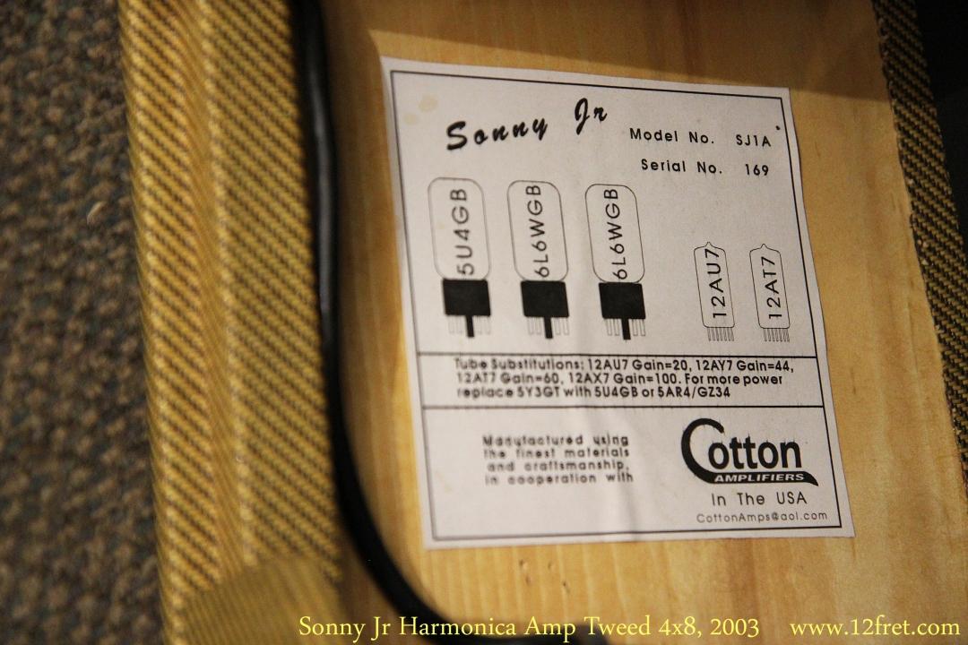 Sonny Jr Harmonica Amp Tweed 4x8, 2003 Tube Chart View