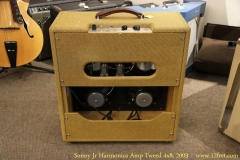 Sonny Jr Harmonica Amp Tweed 4x8, 2003 Full Rear View