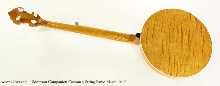 Sorenson Companion Custom 5-String Banjo Maple, 2017   Full Rear View