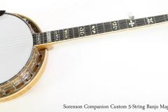 Sorenson Companion Custom 5-String Banjo Maple, 2017   Full Front View