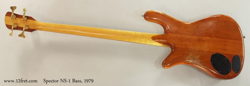 Spector NS-1 Bass, 1979 Full Rear View