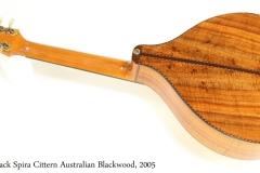 Jack Spira Cittern Australian Blackwood, 2005 Full Rear View