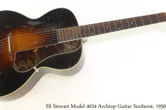 SS Stewart Model 4024 Archtop Guitar Sunburst, 1930s Full Front View