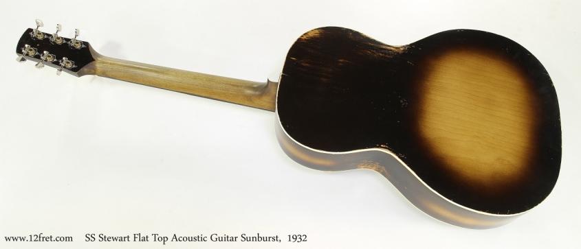SS Stewart Flat Top Acoustic Guitar Sunburst,  1932  Full Rear View