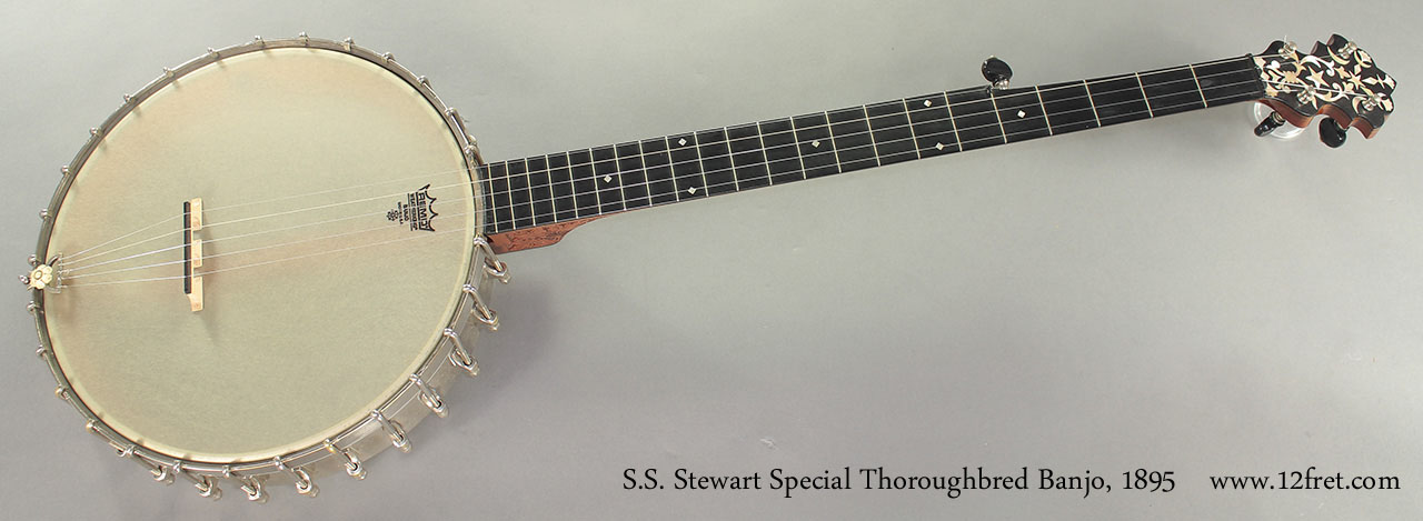 S.S. Stewart Special Thoroughbred Banjo 1895 full front view