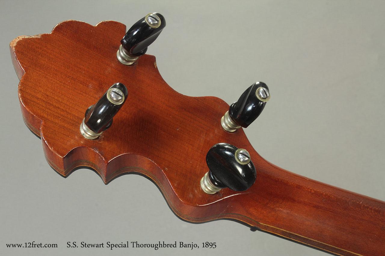 S.S. Stewart Special Thoroughbred Banjo 1895 head rear