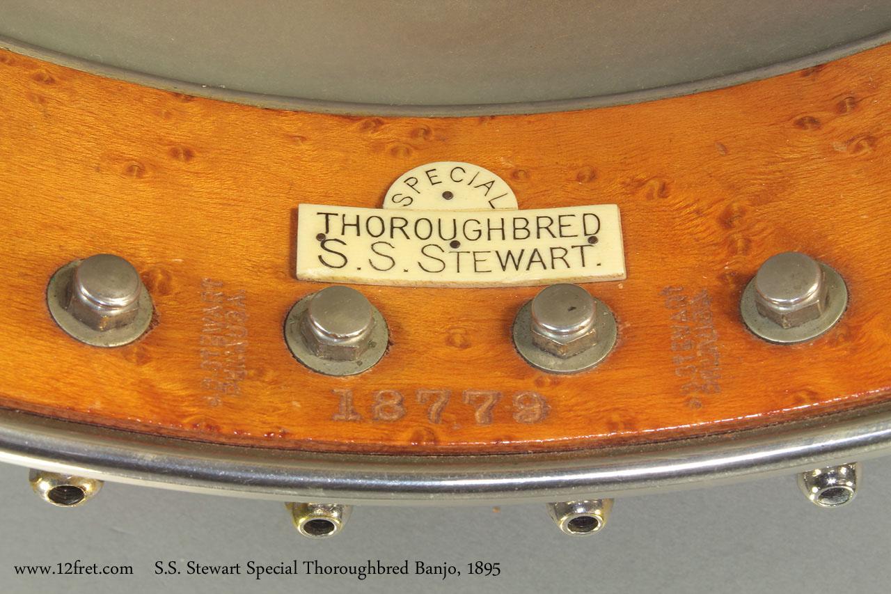 S.S. Stewart Special Thoroughbred Banjo 1895 Plaque