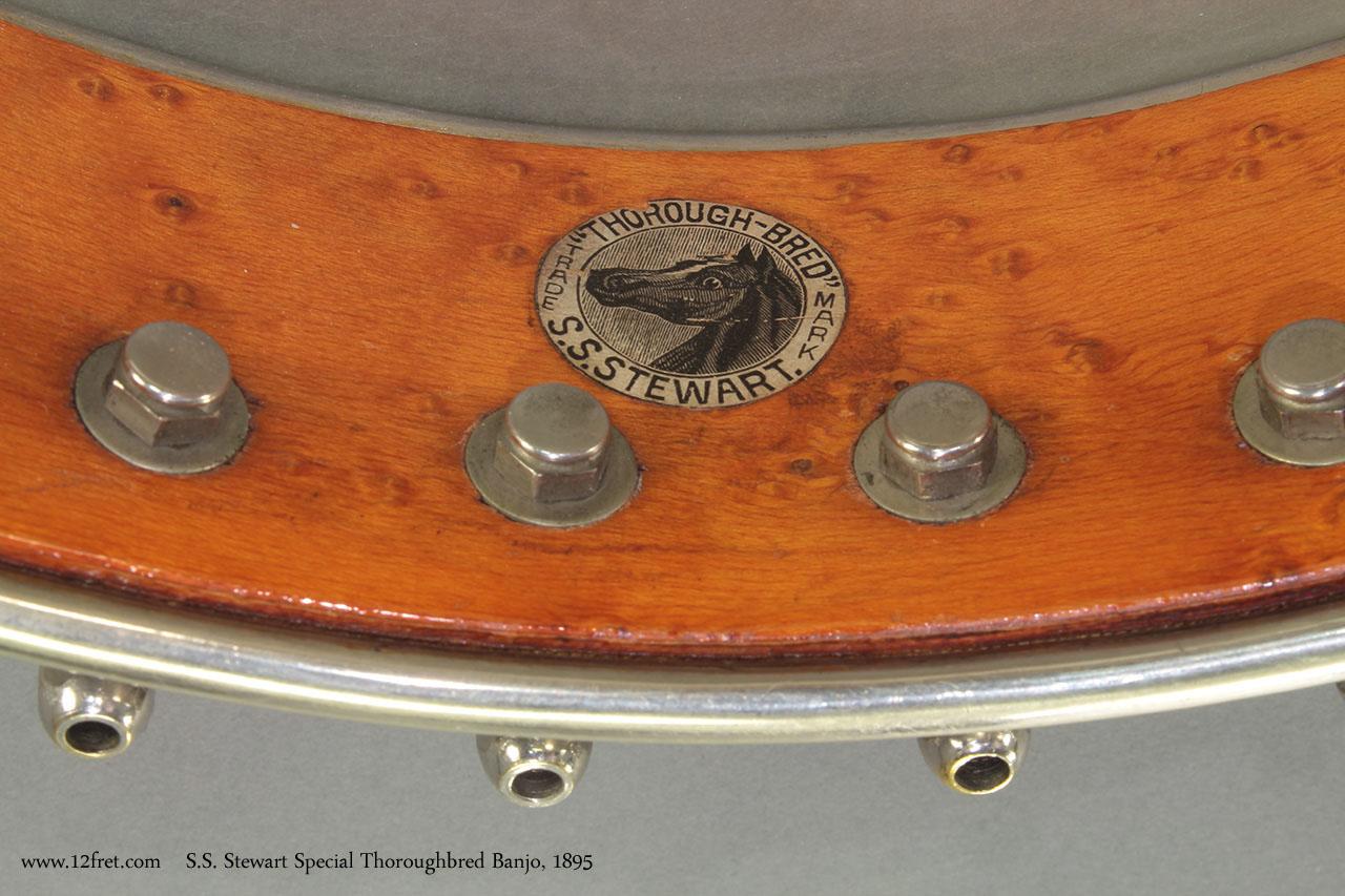 S.S. Stewart Special Thoroughbred Banjo 1895 sticker