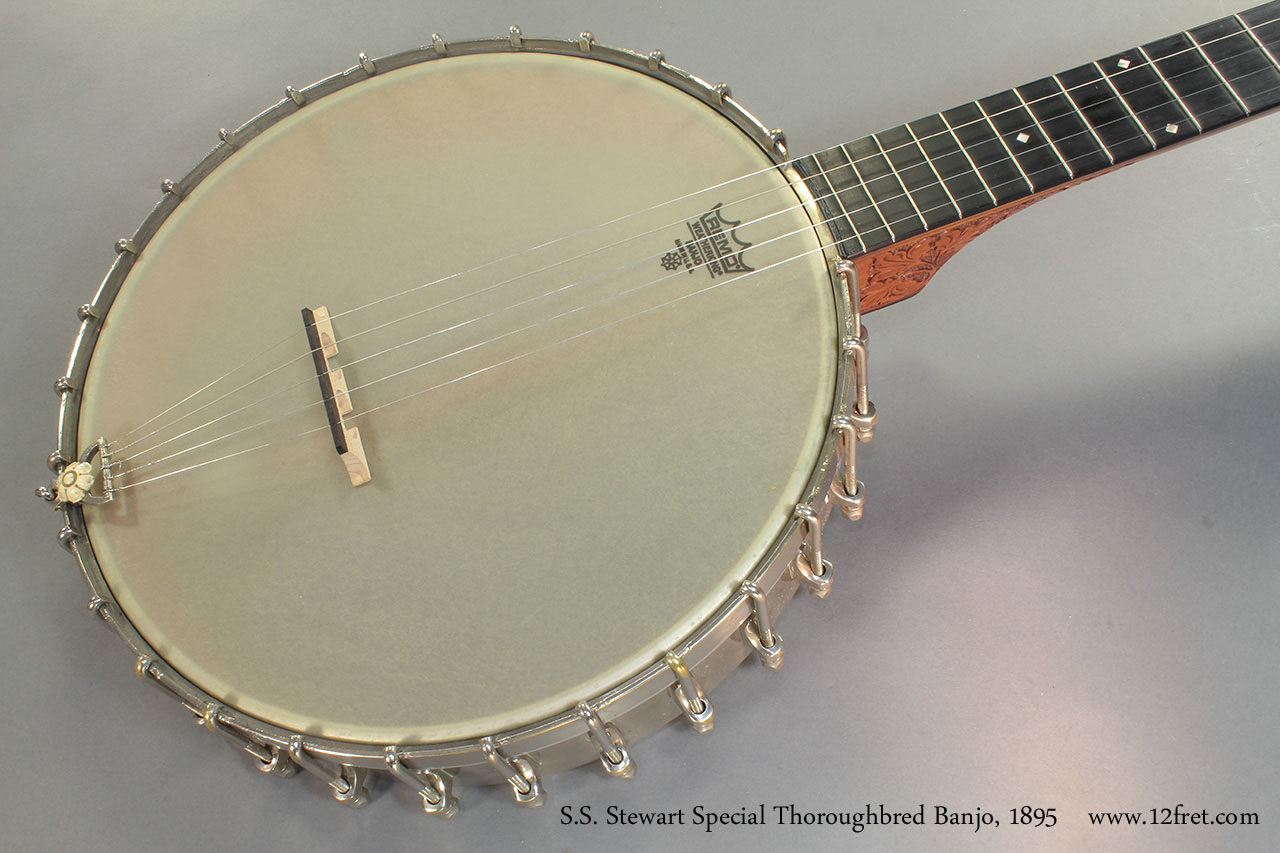 S.S. Stewart Special Thoroughbred Banjo 1895 top
