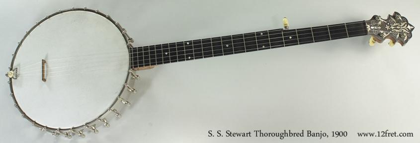 S. S. Stewart Thoroughbred Banjo, 1900 Full Front View