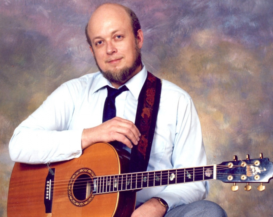 Stan Rogers Portrait with 1977 William Laskin Guitar