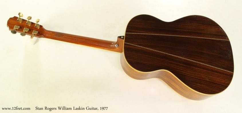 Stan Rogers William Laskin Guitar, 1977  Full Rear VIew