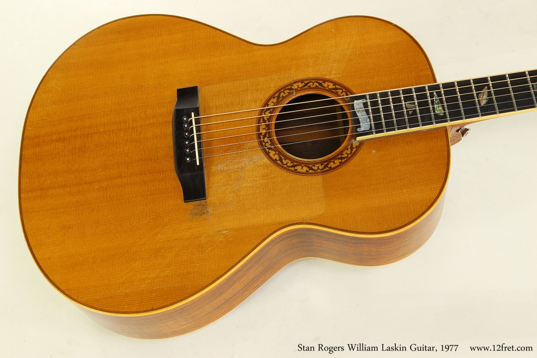 Stan Rogers William Laskin Guitar, 1977  Top View